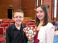 Winners, Vocal Duet, 18years and under - George Herbert and Charlotte Jefferies